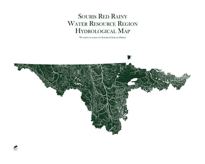 Souris-Red-Rainy Regional Hydrological Map