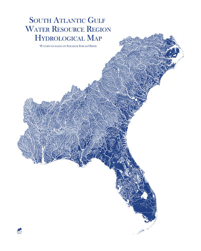 South Atlantic-Gulf Regional Hydrological Map
