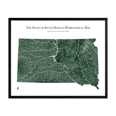 South Dakota Rivers Map