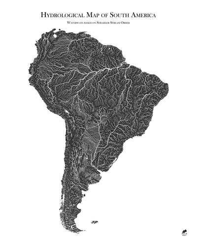 South America Hydrological Map