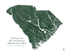 South Carolina Hydrological Map
