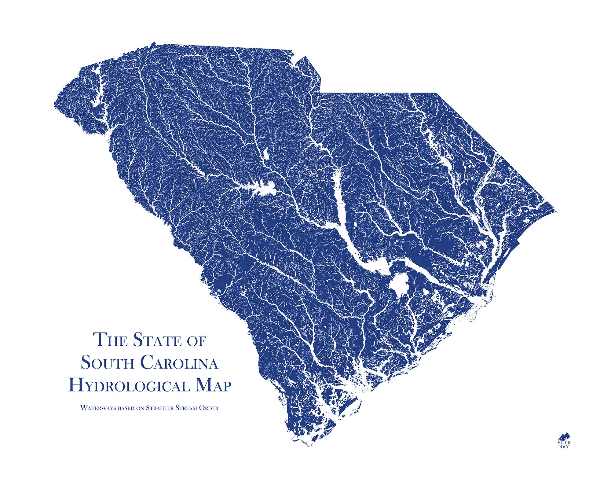 South Carolina Hydrology Series Map - Muir Way