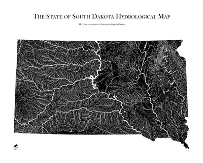 South Dakota Hydrological Map