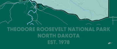 Theodore Roosevelt National Park Map