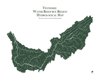 Tennessee Regional Hydrological Map