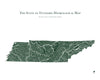 Tennessee Hydrological Map