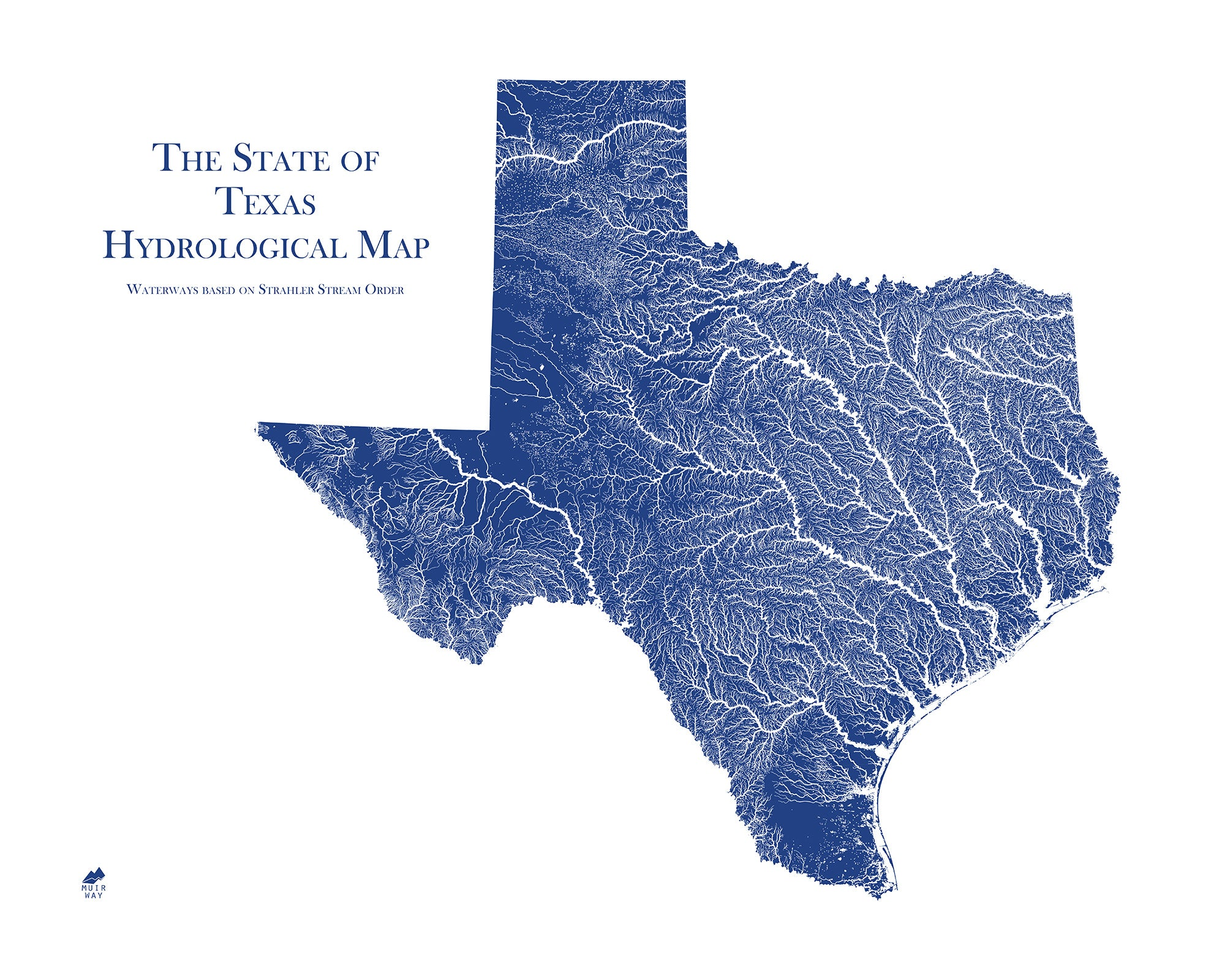 Texas Hydrology Series Map - Muir Way