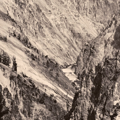 The Grand Canyon, One Mile Below the Falls, Yellowstone 1873