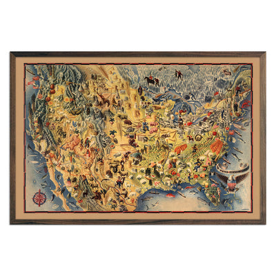 USA Pictorial Map 1942