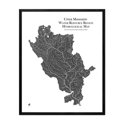 Upper Mississippi Regional Hydrological Map