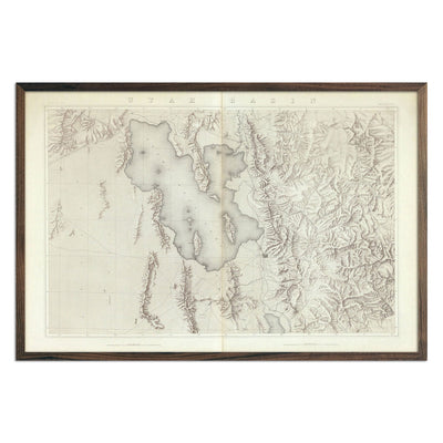 Utah Basin 1876 Topographic Map