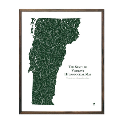 Vermont Rivers Map