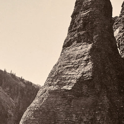 View in Bridger Canyon, Near Fort Ellis, Yellowstone 1873