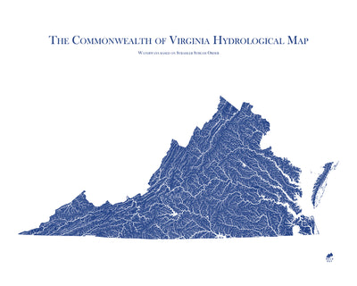 Virginia Hydrology Map