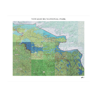 Relief Map of Voyageurs National Park