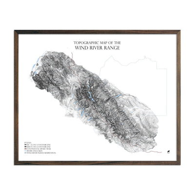 Map of Wind River Mountains Range