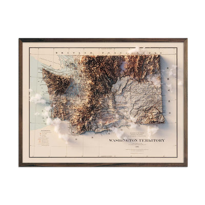 Washington 1883 Relief Map