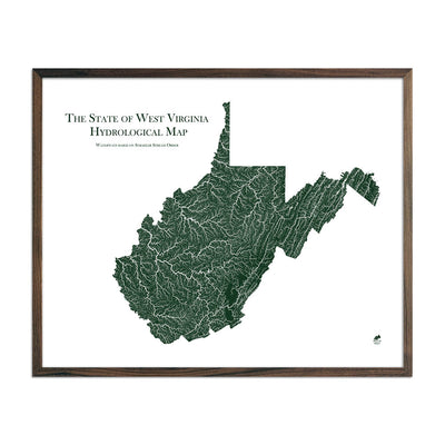 West Virginia Rivers Map