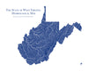 West Virginia Hydrological Map