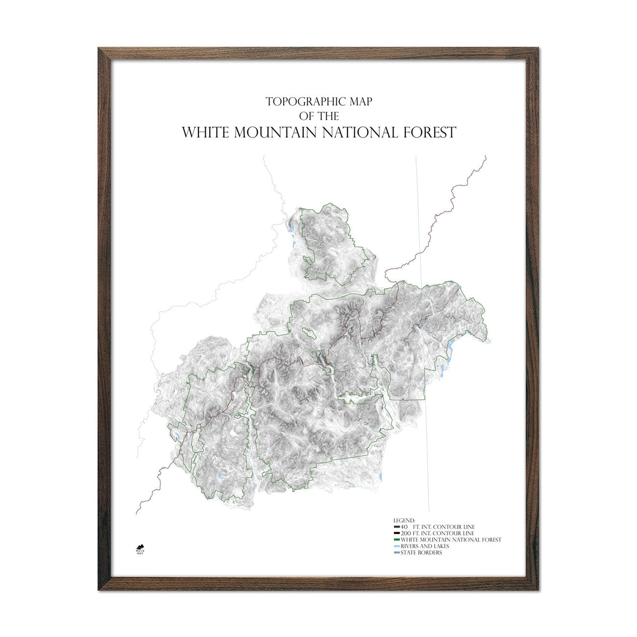 Map of White Mountains Range