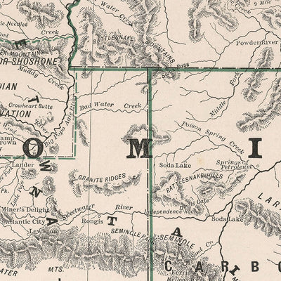 Wyoming 1883 Map