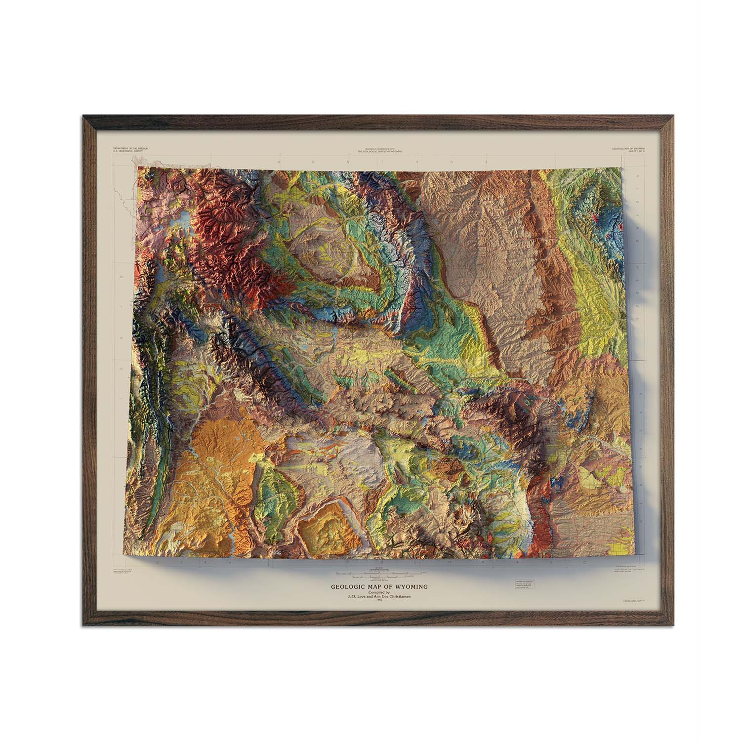 Wyoming 1985 Relief Map