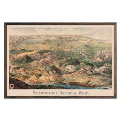 Yellowstone National Park Map 1904