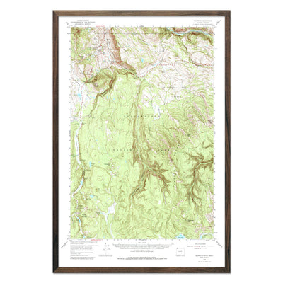 Yellowstone National Park 1958 USGS Map