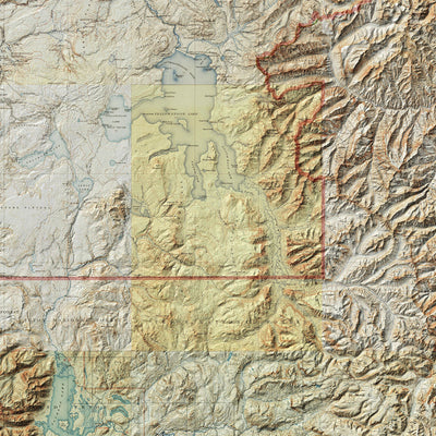 Yellowstone Relief Map