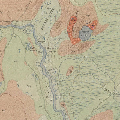 1904 Yellowstone Geologic Map of Firehole Geyser Basin