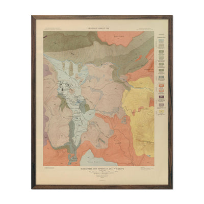 1904 Yellowstone Geologic Map of Mammoth Hot Springs