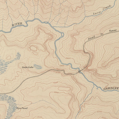 1904 Yellowstone Topographic Map of Mammoth Hot Springs