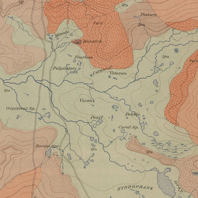 1904 Yellowstone Geologic Map of Norris Geyser Basin