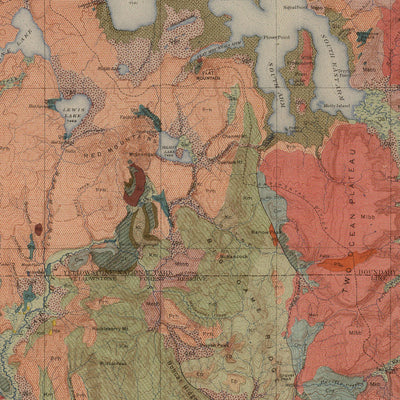 1904 Yellowstone Geologic Map of the National Park and Forest Preserve