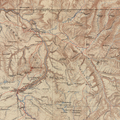 1904 Yellowstone Topographic Map of the National Park and Forest Reserve