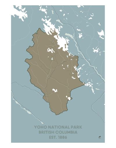 Yoho National Park Map