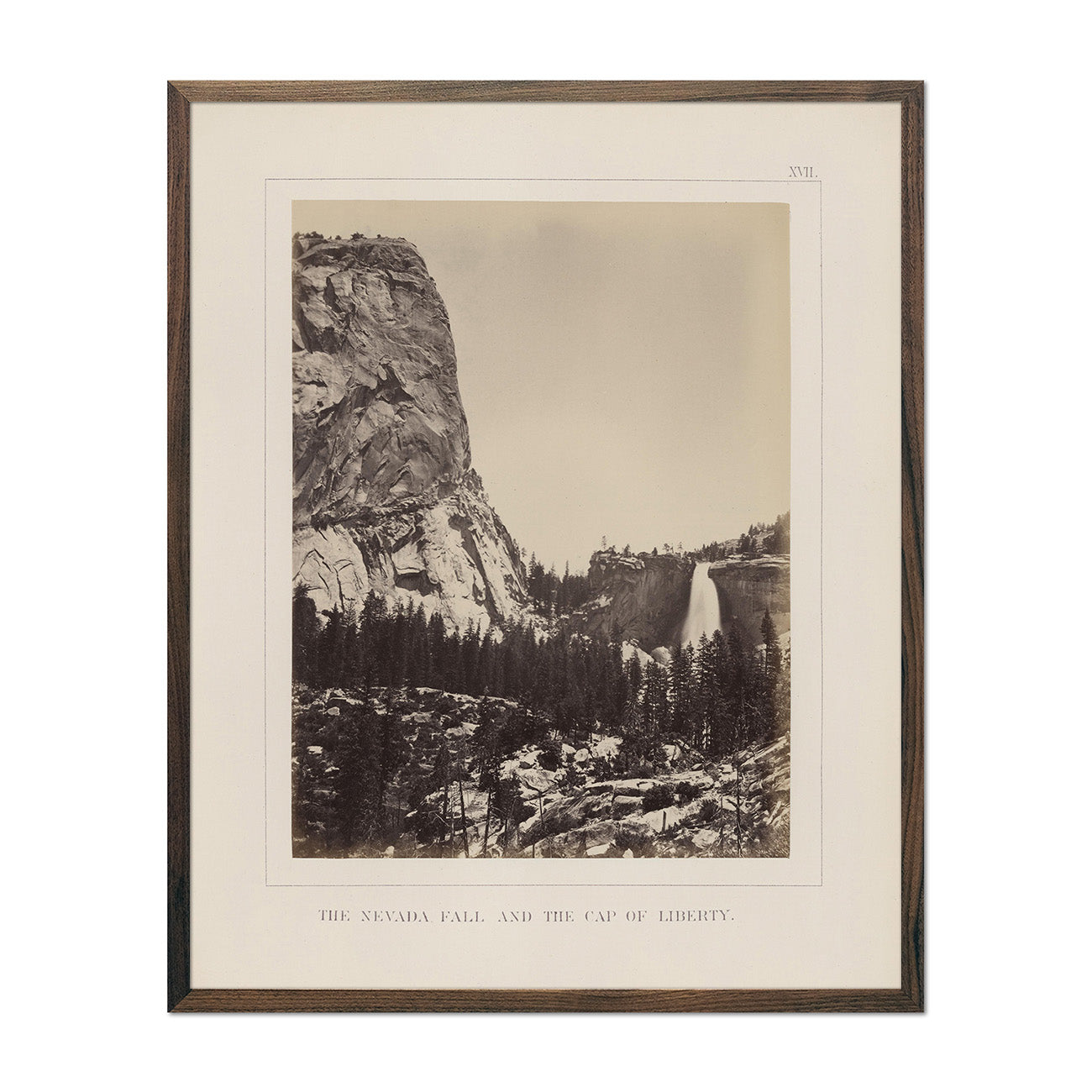 Photograph of Nevada Fall and Cap of Liberty
