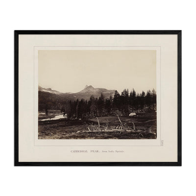 Cathedral Peak from Soda Springs, Yosemite 1868