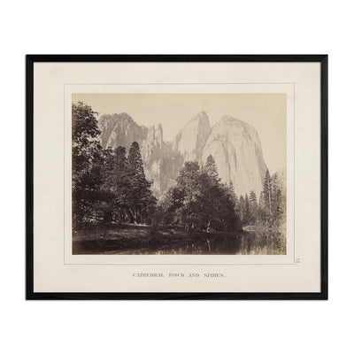 Cathedral Rock and Spires, Yosemite 1868