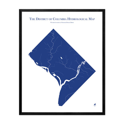 Washington DC Hydrology Map