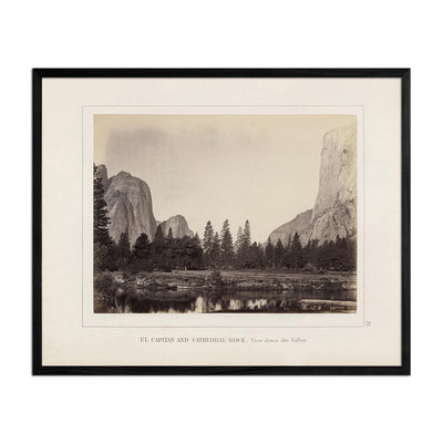 El Capitan and Cathedral Rock, Yosemite 1868