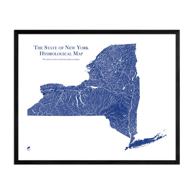 New York Hydrology Map
