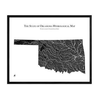 Oklahoma Hydrological Map