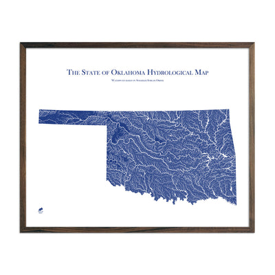 Oklahoma Hydrology Map