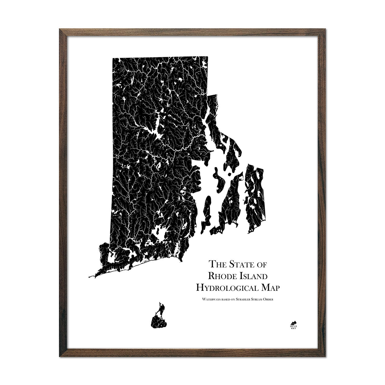 Rhode Island Hydrological Map