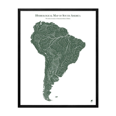 South America Rivers Map