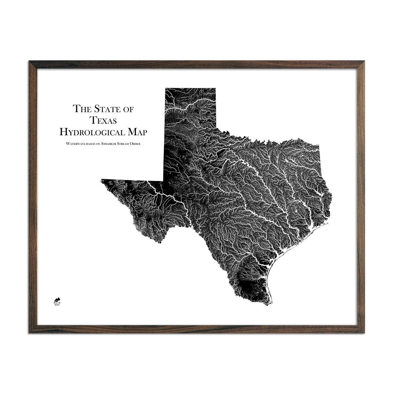 Texas Hydrological Map