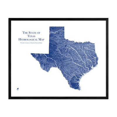 Texas Hydrology Map