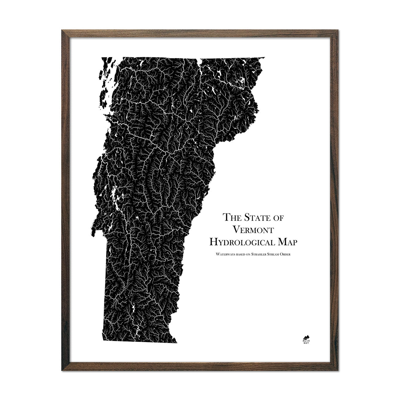Vermont Hydrological Map