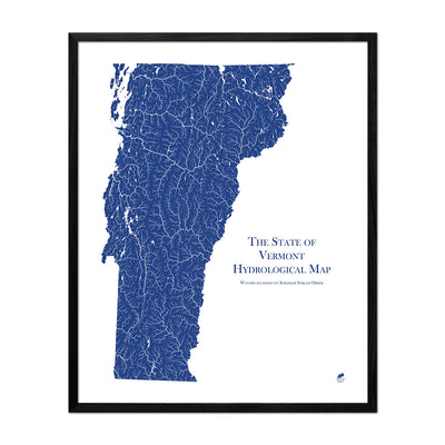 Vermont Hydrology Map